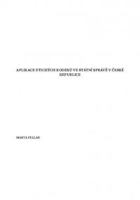 Aplikace etických kodexů ve státní správě v České republice