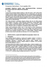 Zavedení černých listin jako protikorupčního nástroje do systému zadávání veřejných zakázek