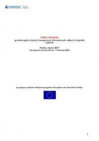 Pakty integrity. Protikorupční nástroj Transparency International v oblasti veřejných zakázek